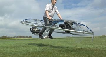 This is worth seeing: man created a homemade hoverbike that gets off the ground!