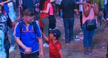 Touching video of a Portuguese boy consoling a crying French fan after Euro-2016 final!
