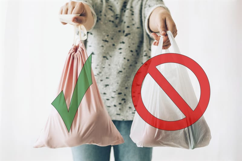 Culture Story: reusable grocery bag single-use plastic packaging pollution plastic bags bottles ocean sea nature danger environment