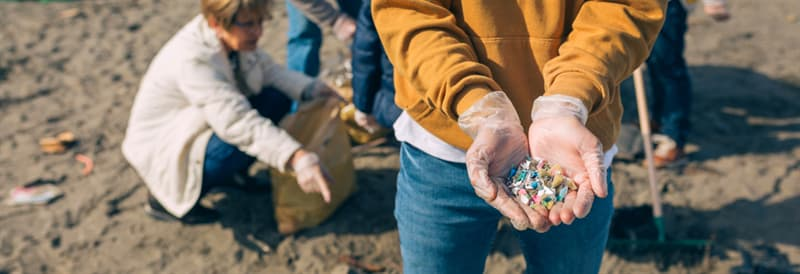 Culture Story: microplastics pollution plastic bags bottles ocean sea nature danger environment