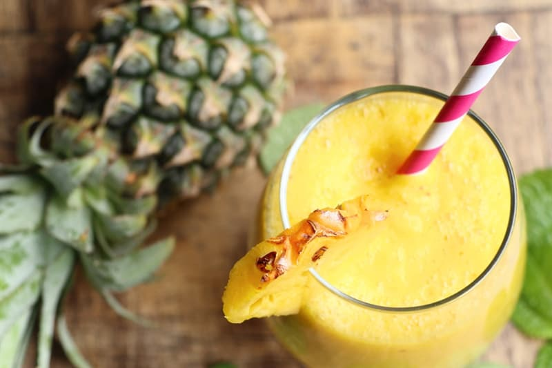health Story: Pineapple Summer Smoothie recipe