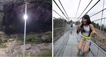 The longest 600-feet-high glass bridge for thrill-seeking tourists!