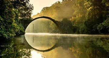 The unique Devil's Bridge in Germany: incredibly beautiful and mystical place!