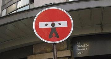 Unique and provoking redesign of traffic signs by Clet Abraham!