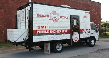 Man created a shower truck in order to help the homeless boost their self-esteem!