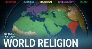 This animated map shows vividly how world religions spread across the globe!