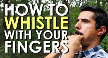Do you know how to whistle loudly? Watch this video lesson and learn!