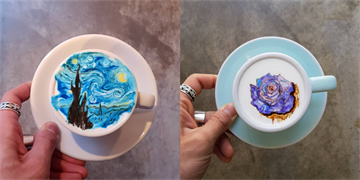 Art on coffee you've never seen before