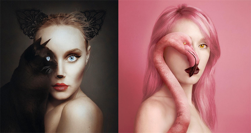 We are all related - surreal self-portraits that show how similar humans and animals are