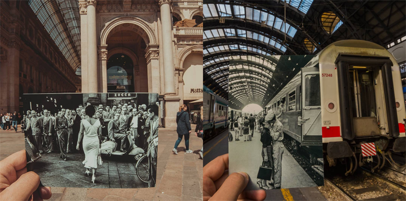 Cities through time and the lens - old photos in modern places