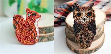 Incredible pieces of art - animal-inspired jewelry made in a special way