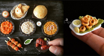 Tiny copies of meals that look so delicious you'll never guess what they're made of