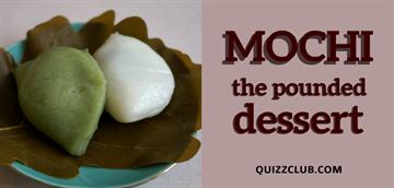 "Dramatic way of making the Japanese dessert ""mochi"""