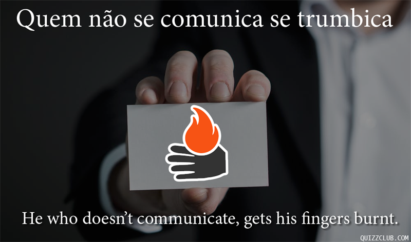 Culture Story: He who doesn't communicate, gets his fingers burnt