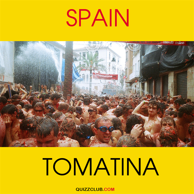 Geography Story: Spain: Tomatina