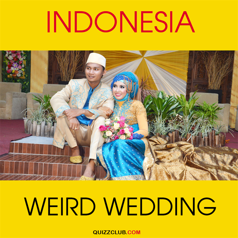 Geography Story: Indonesia: Weird wedding
