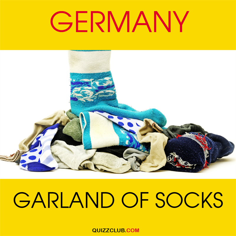 Geography Story: Germany: Garland of socks
