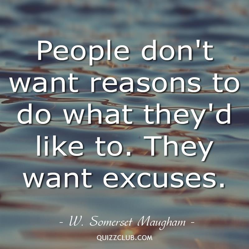 Culture Story: People don't want reasons to do what they'd like to. They want excuses