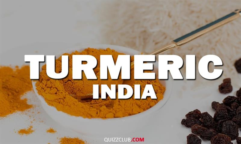 Geography Story: Turmeric (India)