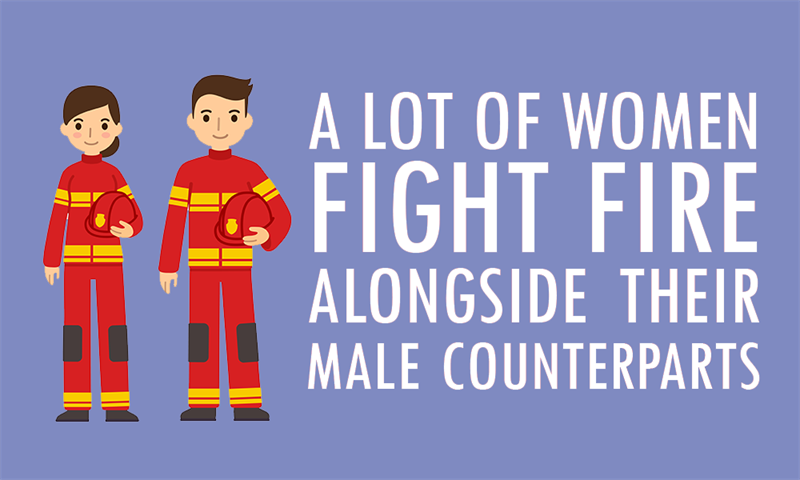 Society Story: A lot of women fight fire alongside their male counterparts today