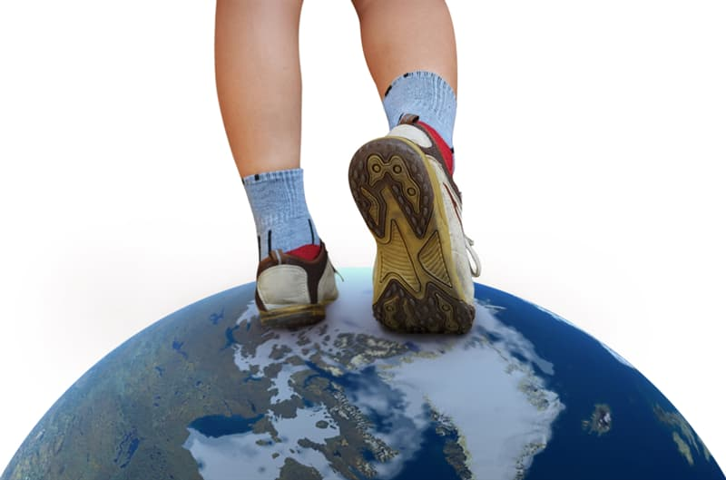 Geography Story: #7 During your lifetime you can walk around the equator 4.5 times