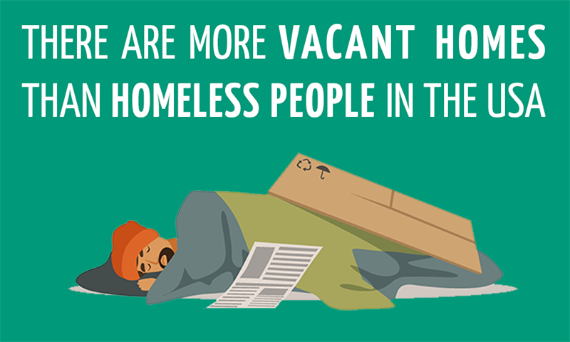 History Story: There are more vacant homes than homeless people in the USA