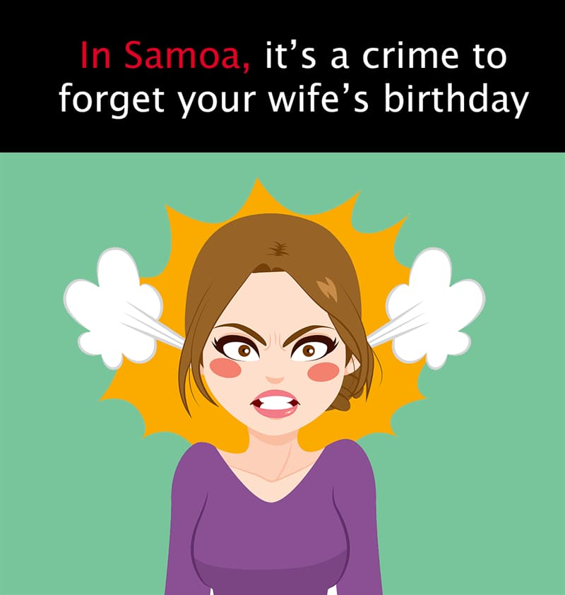 Geography Story: In Samoa, it's a crime to forget your own wife's birthday