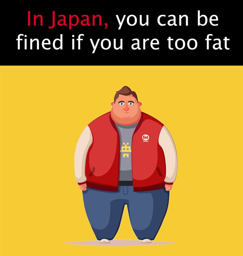 Geography Story: In Japan, you can be fined if you are too fat