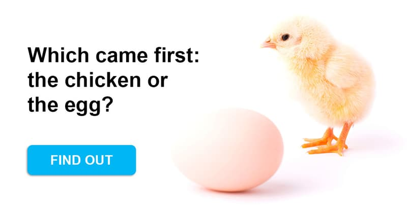 Science Story: Which came first, the chicken or the egg?