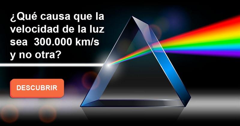 Сiencia Historia: ¿Qué causa que la velocidad de la luz sea 300.000 km/s y no otra?