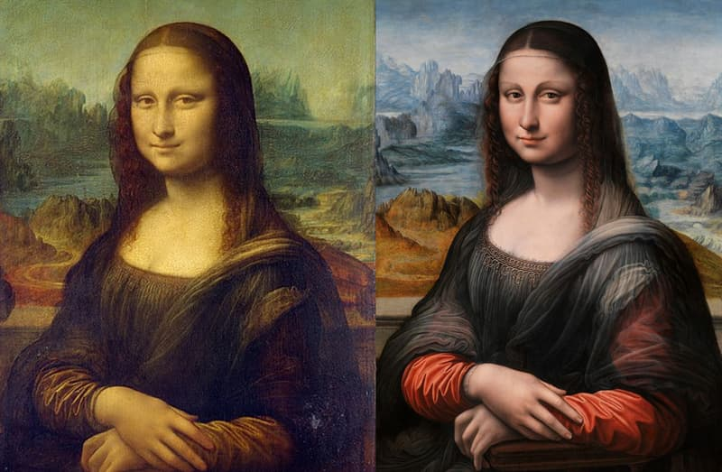 Geography Story: #11 What you see in the second picture is claimed to be the earliest replica of Mona Lisa. This is what the famous painting originally looked like