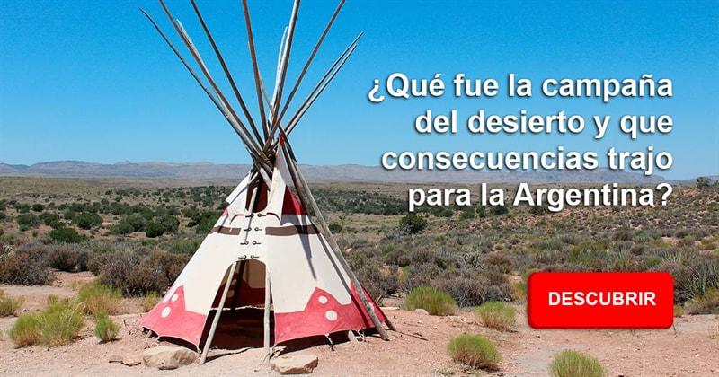 Geografía Historia: ¿Qué fue la campaña del desierto y que consecuencias trajo para la Argentina?