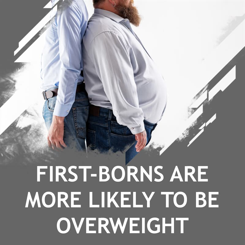Science Story: First-borns are more likely to be overweight