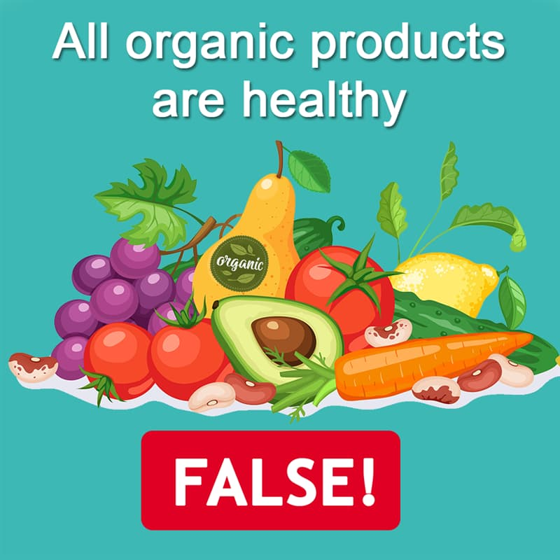 Science Story: All organic products are healthy - FALSE