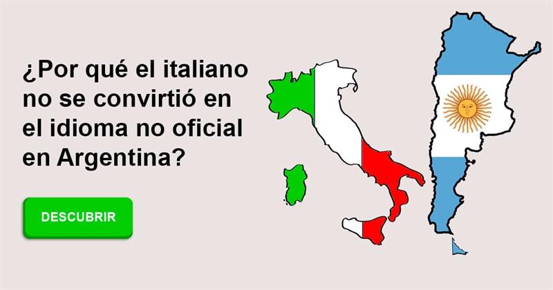 Geografía Historia: ¿Por qué el italiano no se convirtió en el idioma no oficial en Argentina?