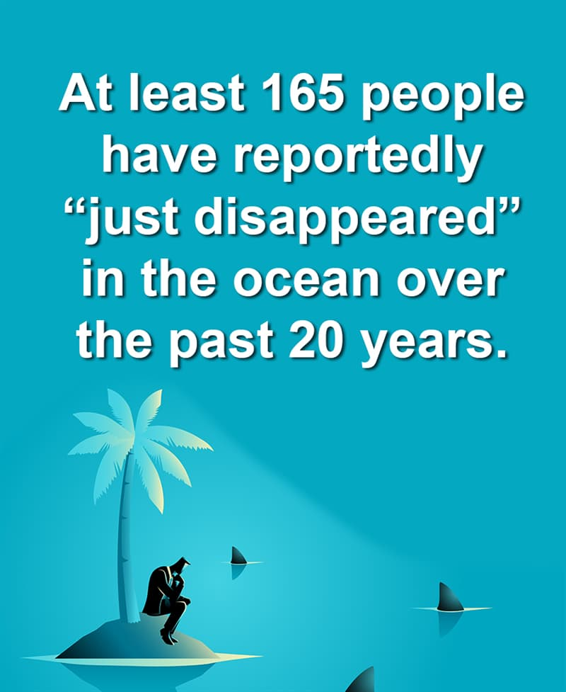 """Geography Story: At least 165 people have reportedly """"just disappeared"""" in the ocean over the past 20 years"""