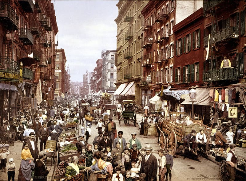 Geography Story: #11 Mulberry Street, NYC, circa 1900