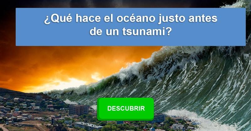Naturaleza Historia: ¿Qué hace el océano justo antes de un tsunami?