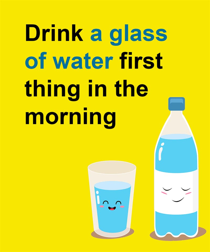 Science Story: Drink a glass of water first thing in the morning