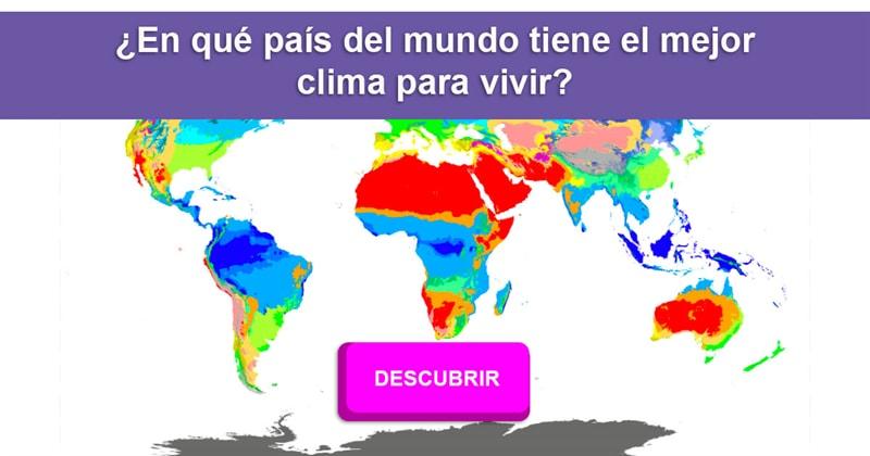 Geografía Historia: ¿Qué país tiene el mejor clima para vivir?