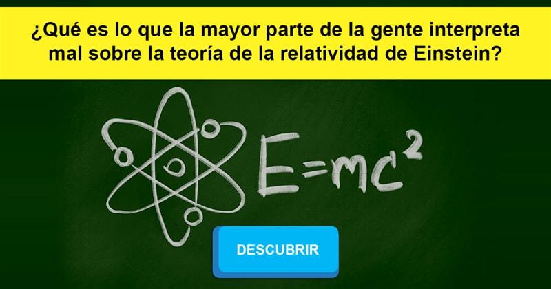 Сiencia Historia: ¿Qué es lo que la mayor parte de la gente interpreta mal sobre la teoría de la relatividad de Einstein?