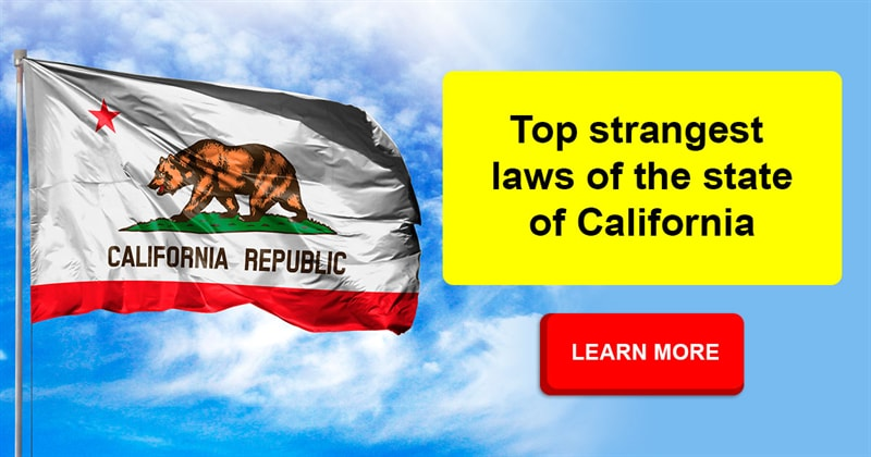 Society Story: 10 strange and funny laws of the state of California