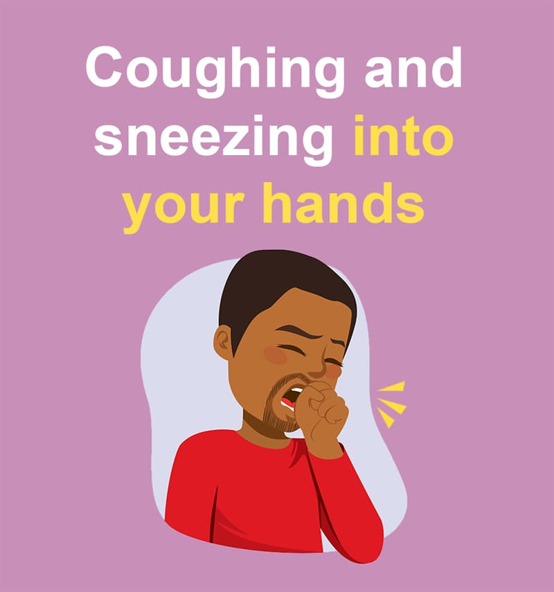 Science Story: Coughing and sneezing into your hands