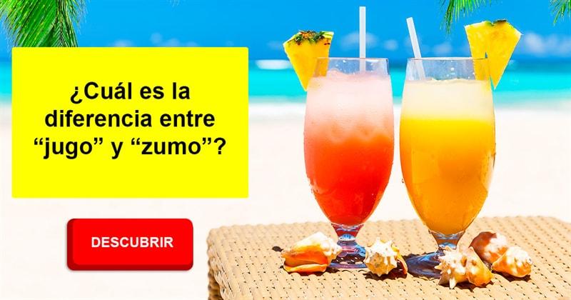 """Cultura Historia: ¿Cuál es la diferencia entre """" jugo"""" y """"zumo""""?"""