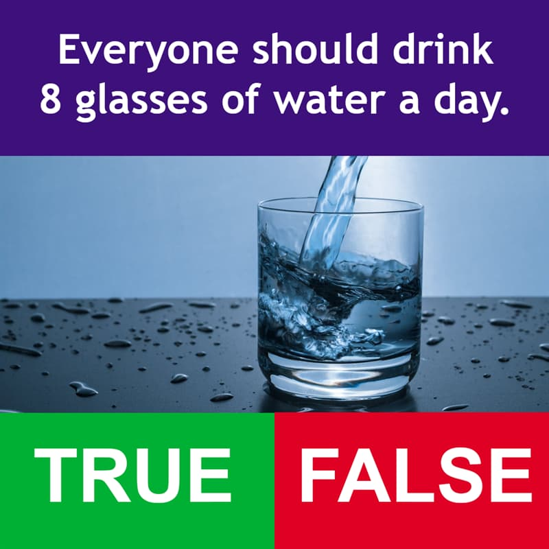 Science Story: Everyone should drink 8 glasses of water a day.