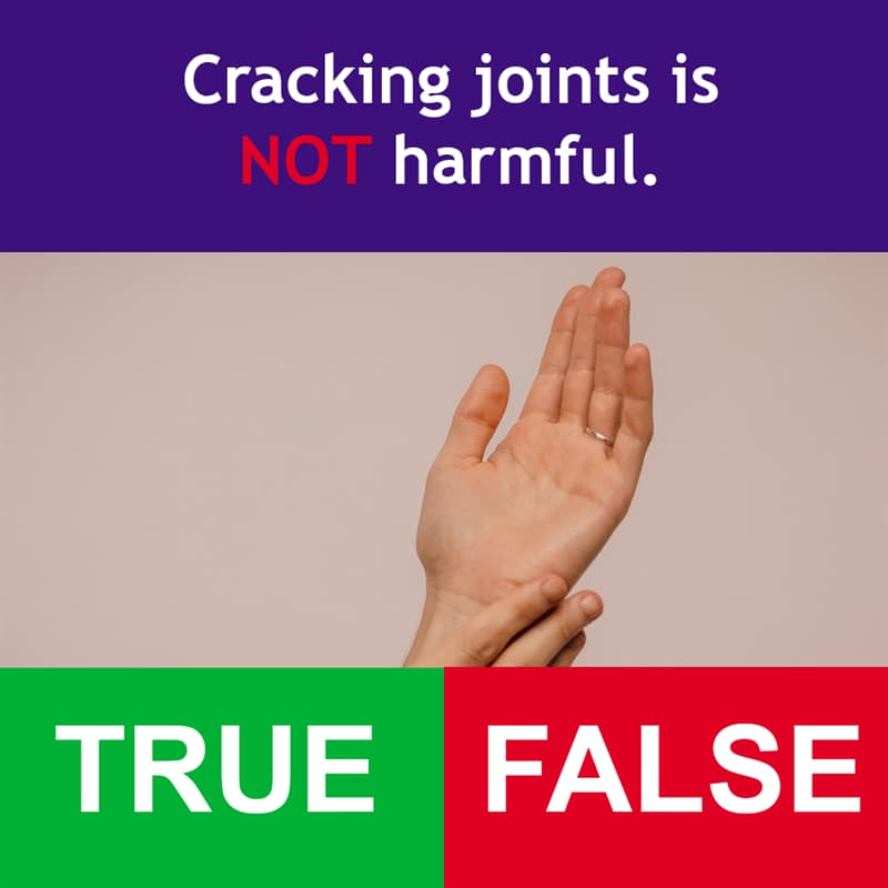 Science Story: Cracking joints is not harmful.