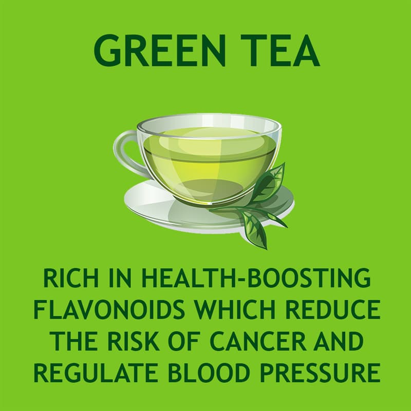 Science Story: Green tea is rich in health-boosting flavonoids which reduce the risk of cancer and regulate blood pressure