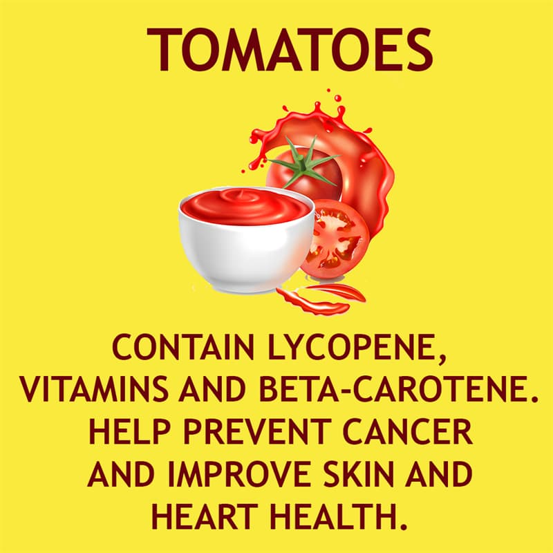 Science Story: Tomatoes contain lycopene, vitamins C and E, and beta-carotene
