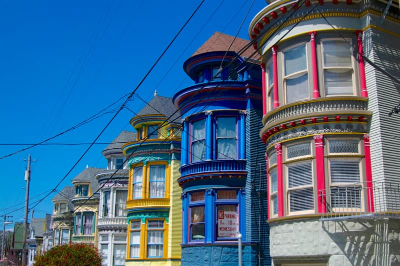 Geography Story: #6 Colored houses in San Francisco, USA