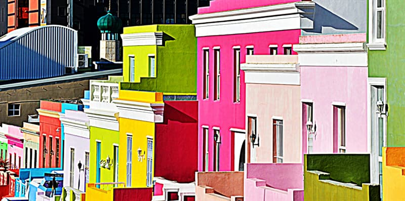 Geography Story: #9 Landscape with colorful Houses in Bo-Kaap, Cape Town